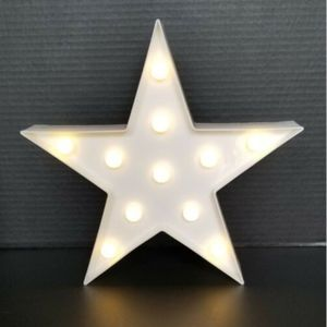 Star LED Marquee Sign White Baby's Room Nursery